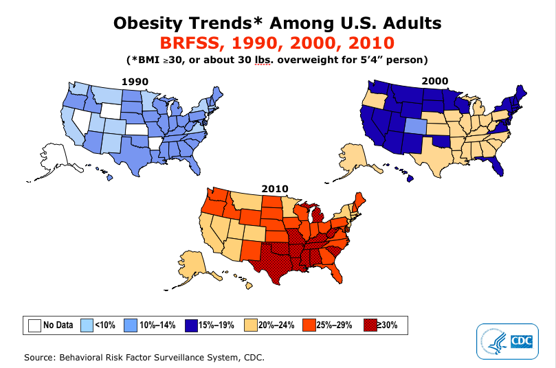 Of adult obesity in the us