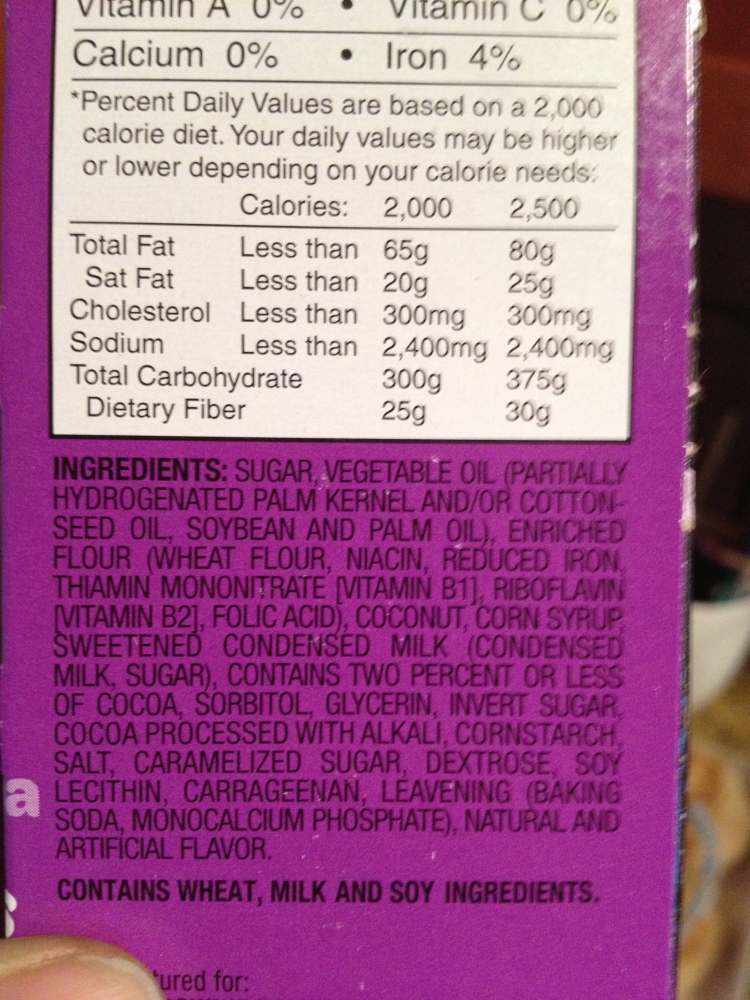Label for Girl Scout Samoas says 0g trans fats, but ingredient list indicates otherwise