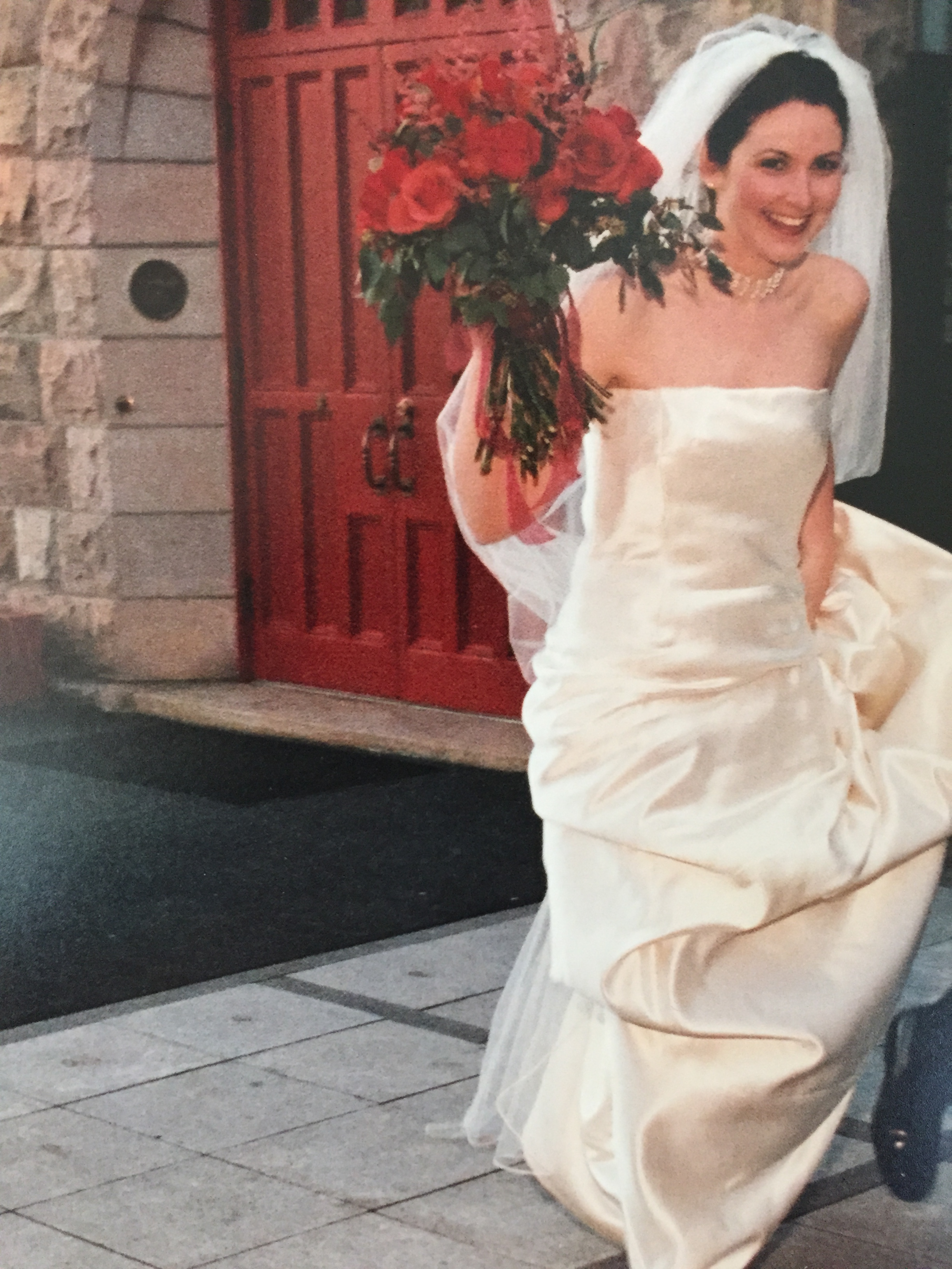 My wedding dress was living rent free in my head, so I turned it ...