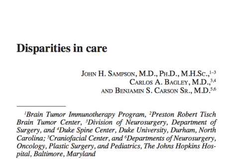 Ben Carson rails against mandates to ease disparities, supports them in a neurosurgeryjournal