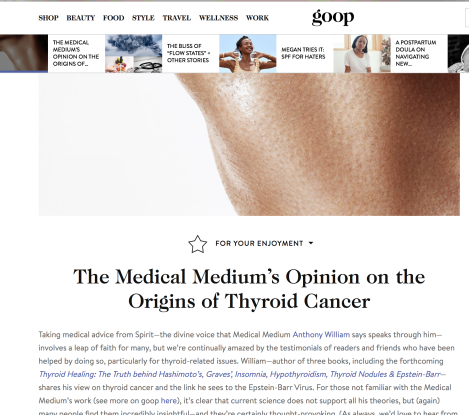 Gwyneth Paltrow and GOOP say the joke is on you if you followed theiradvice