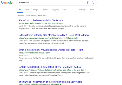 """Is """"Keto Crotch"""" a thing? The Internet's gynecologist weighsin"""